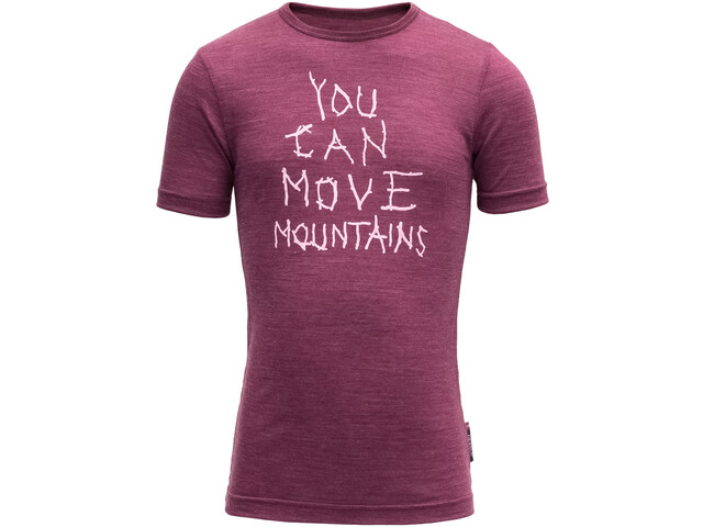 Devold Moving Mountain Tee Kids Plum